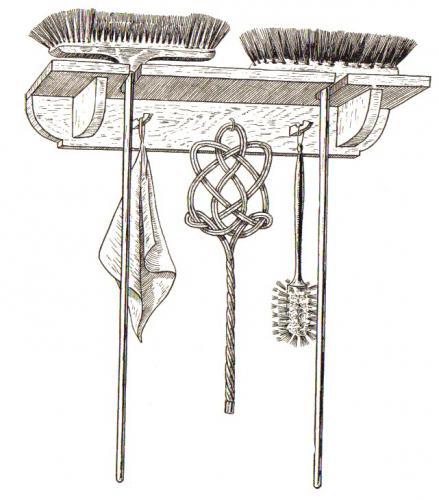 Besen Aufhängen ein einfacher besenschrank bastelfrau
