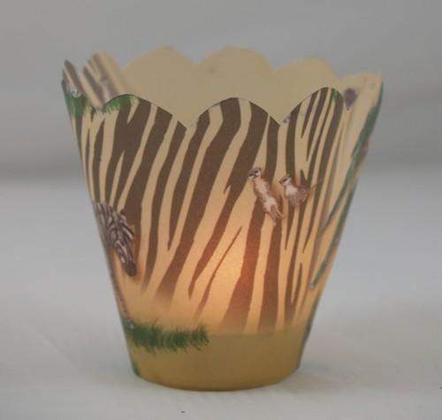 Teelichthullen Fur Eine Afrikanische Tischdekoration Bastelfrau