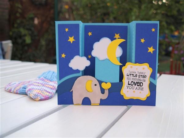 Niedliche Boxkarte Mit Elefant Als Geldgeschenk Zur Geburt