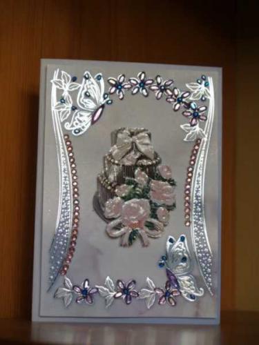 Hochzeitskarte mit strassschmetterling bastelfrau - 3d bilder basteln ...