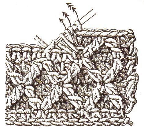 Muster in Reliefhäkelei | Bastelfrau