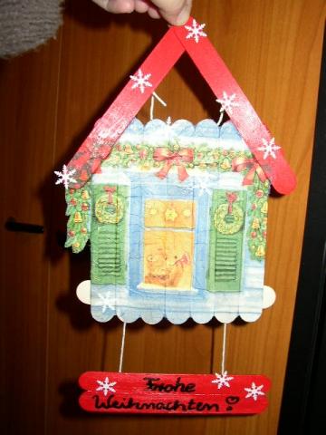 A Sager Türschild Weihnachten Bastelfrau