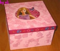 Barbie Dose In Serviettentechnik Basteln Bastelfrau
