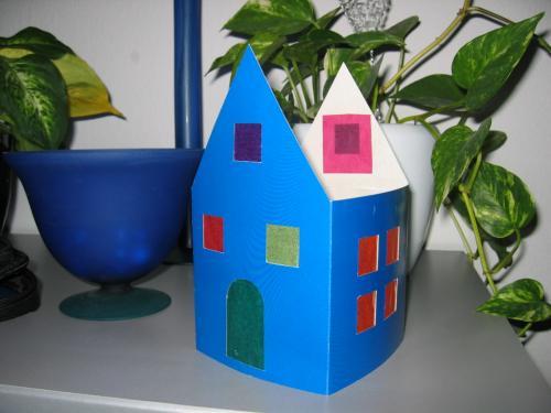 Teelichthaus Beleuchtetes Haus Bastelfrau