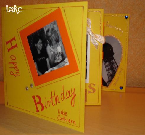 Scrapbook Leporello Als Geburtstagskarte Bastelfrau