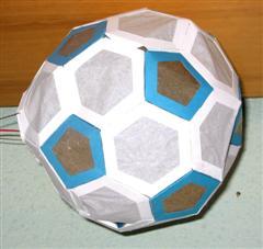 Fussball Laterne Bastelfrau