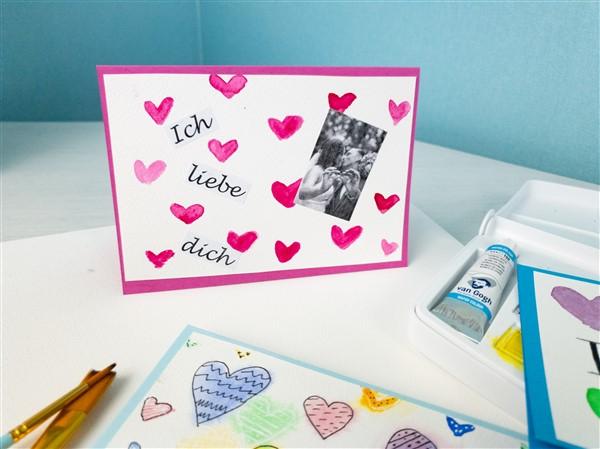 Karte zum Valentinstag mit Foto basteln