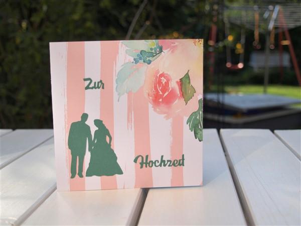 Hochzeitskarte mit Pop-up Eheringen