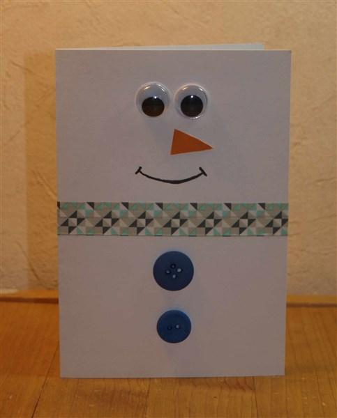 Schnelle Weihnachtskarten Basteln.Schnelle Weihnachtskarte Mit Schneemann Bastelfrau
