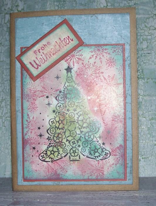 Steampunk Weihnachtskarten Bastelfrau