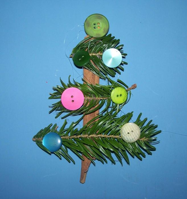 Weihnachtsbäumchen aus Zimstange und Koniferenzweiglein