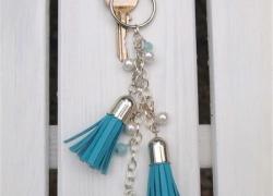 Schlüsselanhänger mit Lederquaste