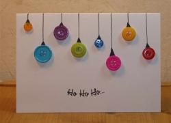 Knopfkarte zu Weihnachten
