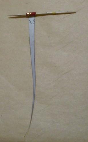 Papierstreifen zr Papierperle wickeln