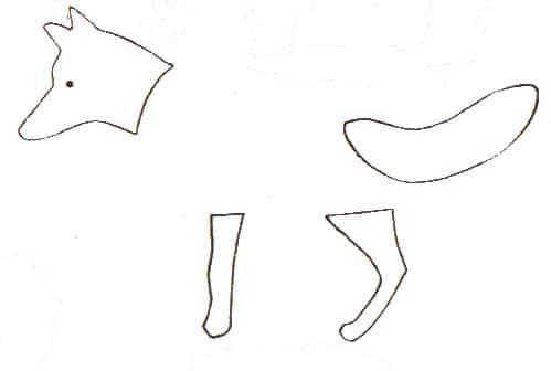 Bastelvorlage Fuchs aus Eicheln