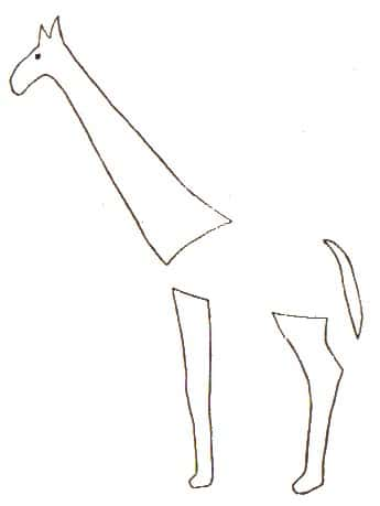 Basteln mit Eicheln: Giraffe