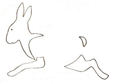 Tiere aus Eicheln: Hase