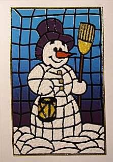 Schnelle Weihnachtskarte mit Schneemann