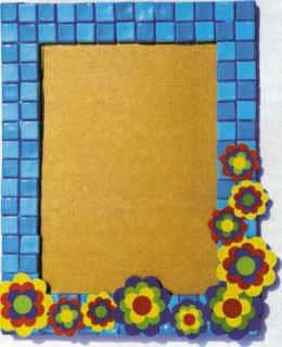 Mosaikrahmen mit Prilblumen