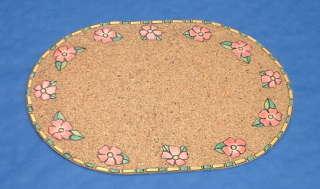 Tischset aus Kork mit Papiermosaik