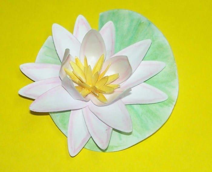 Seerose aus Druckerpapier basteln