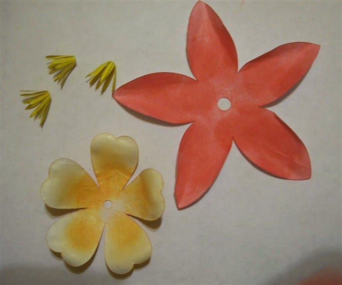 Akelei basteln, Blumen basteln