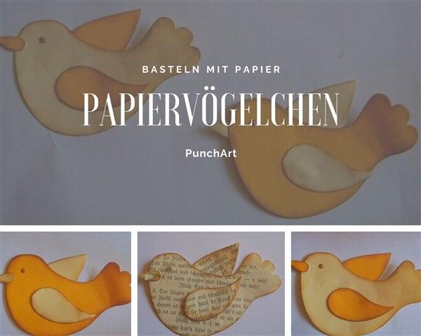 Papiervögelchen basteln