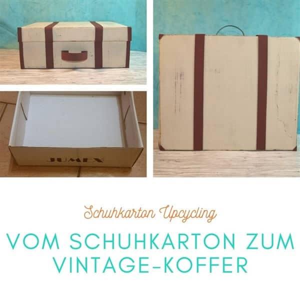 Schuhkarton Upcycling: Vom Schuhkarton zum Vintage-Koffer