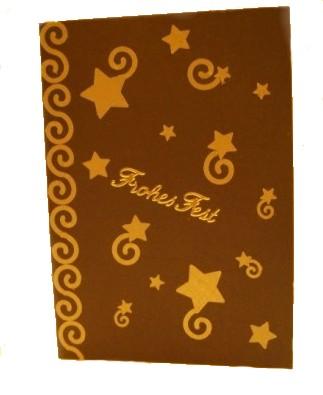 Weihnachtskarte mit Sternschnuppen