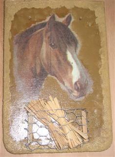 Dachziegel Pferde