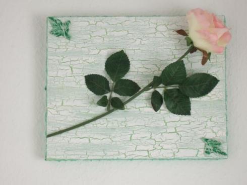 Rosen auf Keilrahmen