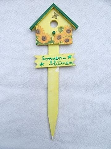 Gartenschild Sonnenblume