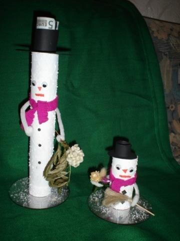 Schneemänner als Geschenkverpackung