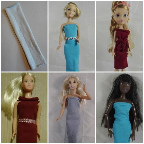 Barbiekleider aus Haarbändern