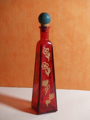 Flaschen dekorieren mit Lackstiften