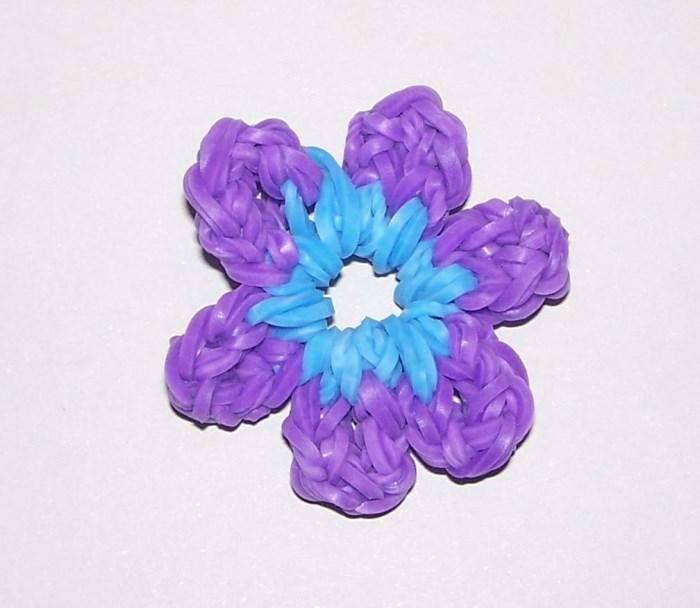 Grundanleitung 1 - Blumen aus Rubberbands