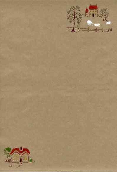Briefpapier prägen und schablonieren