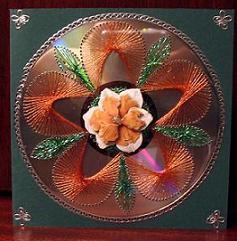 Fadengrafik auf CD