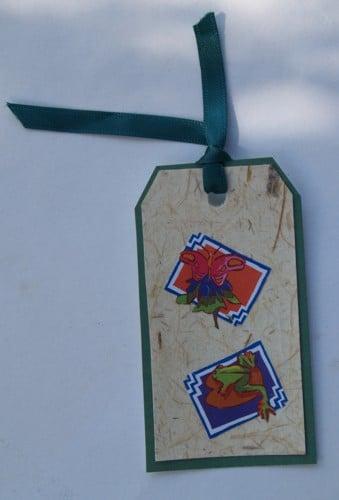 Lesezeichen und Geschenkanhänger mit Cliparts