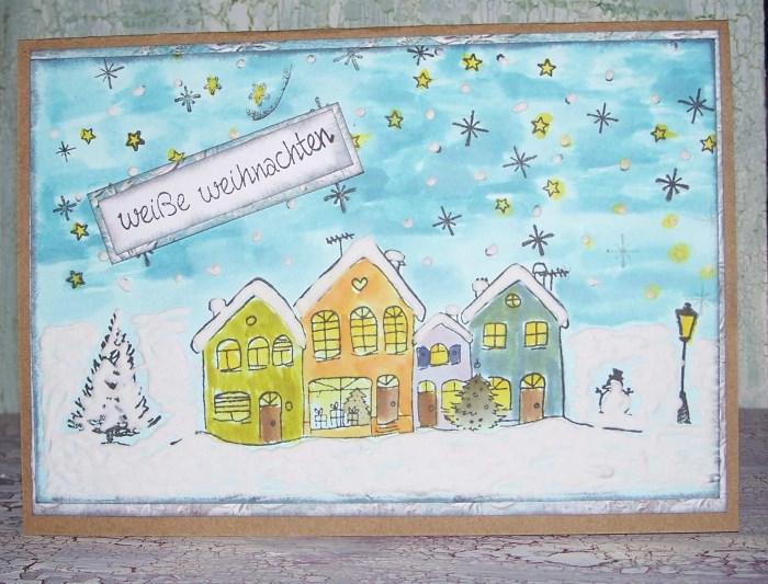 Weihnachtskarten stempeln