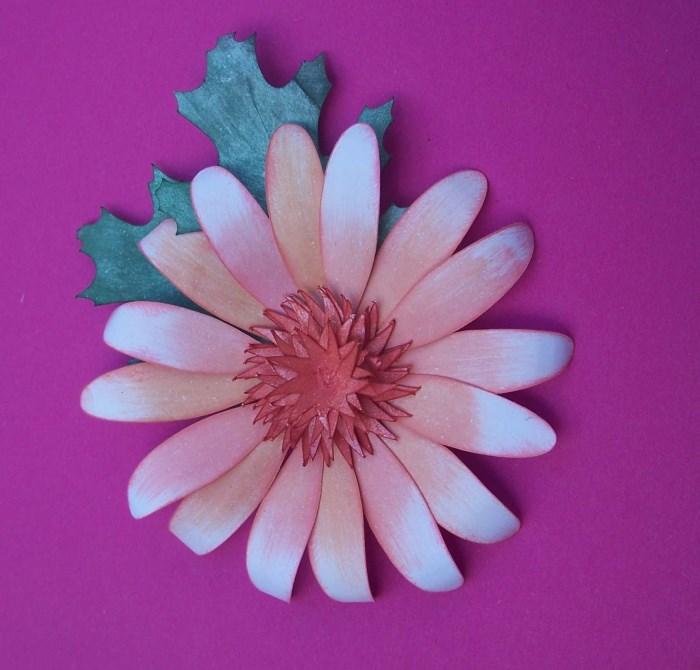 Sonnenhut (Echinacea) aus Papier basteln
