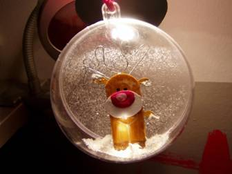 Elch-Weihnachtskugel