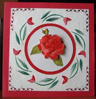 Fadengrafik in Rot