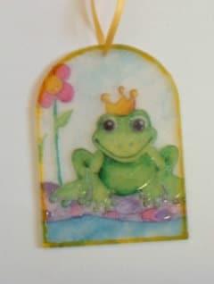 Fensterbild Froschkönig