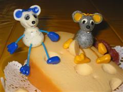 Schlenker-Mäuse aus Fimo basteln