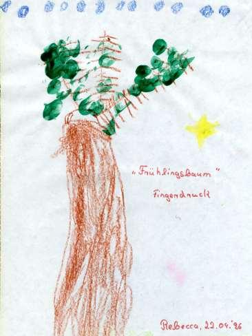 """Fingerdruck """"Frühlingsbaum"""""""