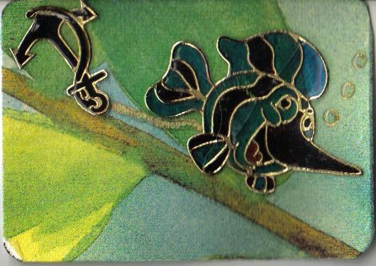 Artist Trading  Card mit Stickerfisch