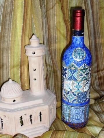Weinflasche - Geschichte in Ornamenten