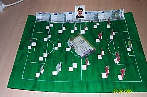 Fußballspiel als Brettspiel