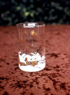 Glas mit Winterlandschaft